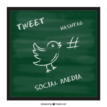 Twitter Hashtag Chalkboard Template Free Vector