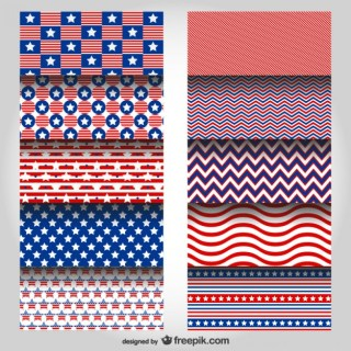 Usa Colors Patterns Free Vector