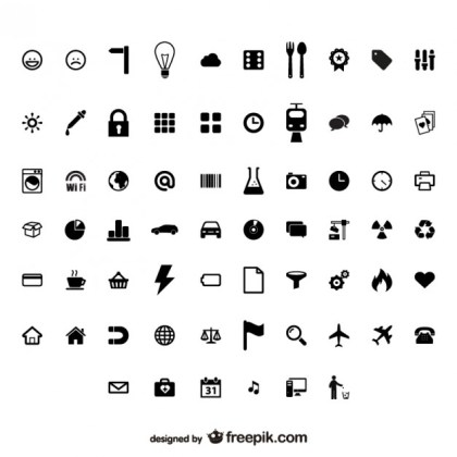 Utility Identifies Small Icon Material Free Vector