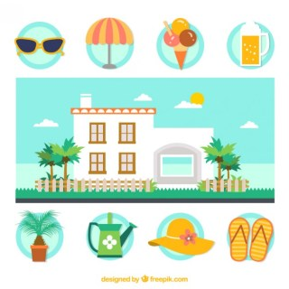 Vacation House Free Vector