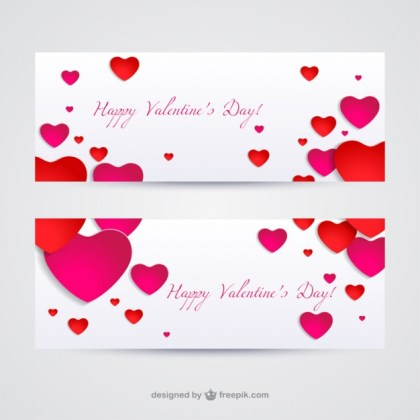 Valentines Banners Free Vector