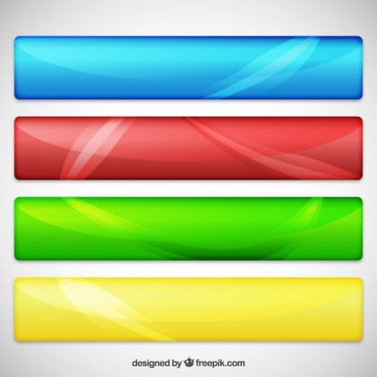 Variety of Web Banners Free Vector