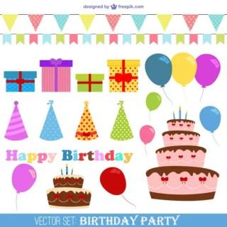 Vector Birthday Party Free Vector