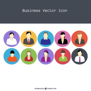 Vector Flat Professional People Icons Free Vector