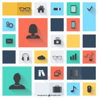 Vector Icons Flat Design Free Vector