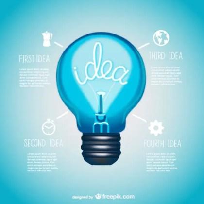 Vector Lightbulb Information Presentation Design Free Vector