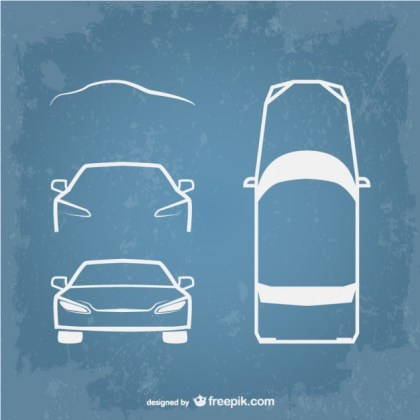 Vector Line Art Car Symbols Free Vector
