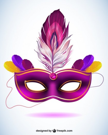Vector Mask for Carnival Free Vector