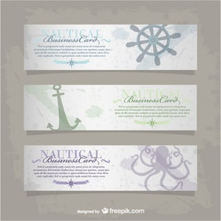 Vector Nautical Business Card Free Vector