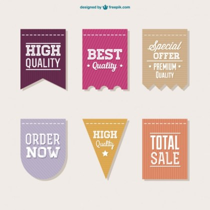 Vector Sale Labels Collection Free Vector