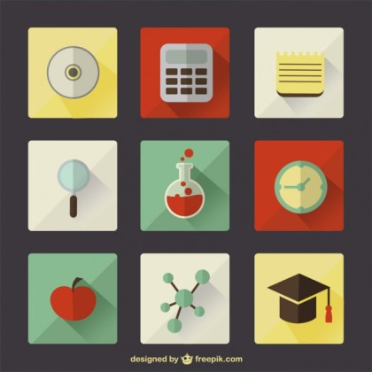 Vector School Education Symbols Free Vector