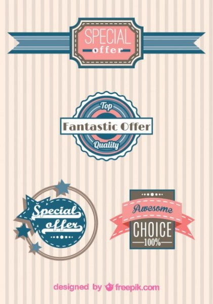 Vector Shopping Badges Free Vector