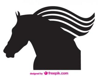 Vector Silhouette Horse Emblem Free Vector