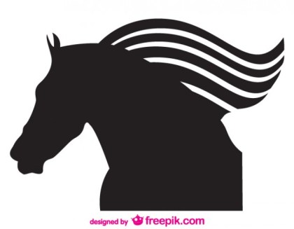 Vector Silhouette Horse Emblem Free Vector