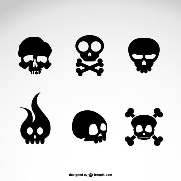 Vector Skull Icons Free Vector