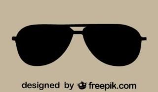 Vector Sunglasses Retro Icon Free Vector