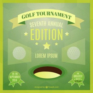 Vector Template of Golf Tournament Poster Free Vector