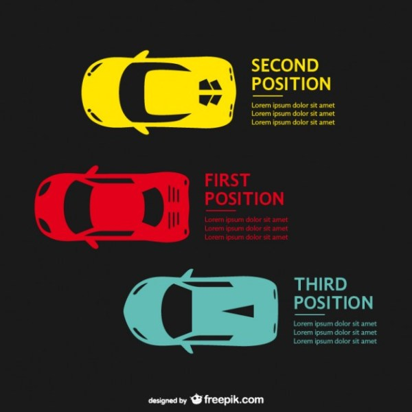 Vector Template with Racing Cars Free Vector