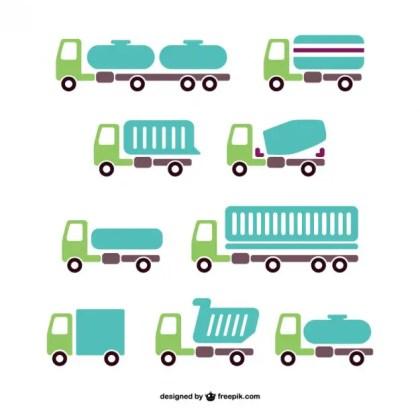 Vector Trucks Pack Free Vector