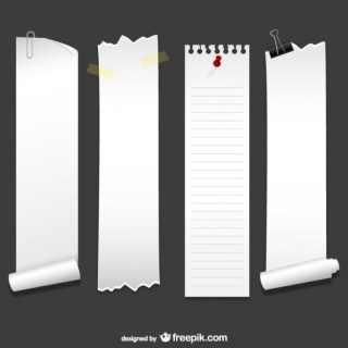 Vertical Sheets of Paper Free Vector