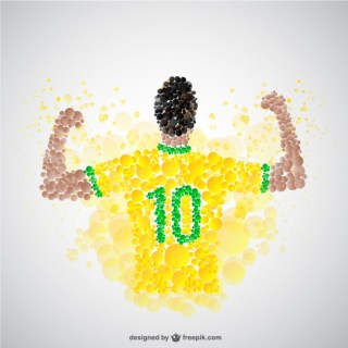 Victorious Soccer Player Free Vector