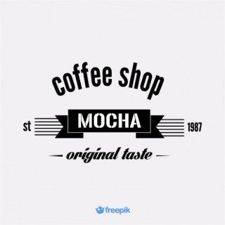 Vintage Banner on Mocha Coffee Shop Free Vector