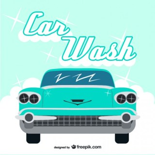 Vintage Car Wash Free Vector