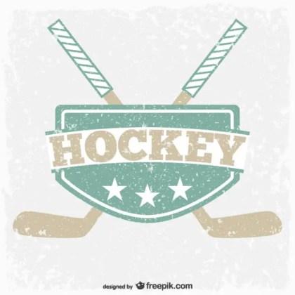 Vintage Hockey Emblem Free Vector