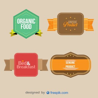 Vintage Labels Collection. Retro Design Elements Free Vector
