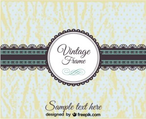 Vintage Lace Banner and Badge Design Free Vector