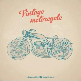 Vintage Motorbike Free Vector