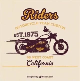 Vintage Motorcycle Free Template Free Vector