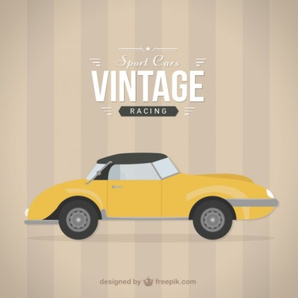 Vintage Racing Car Free Vector