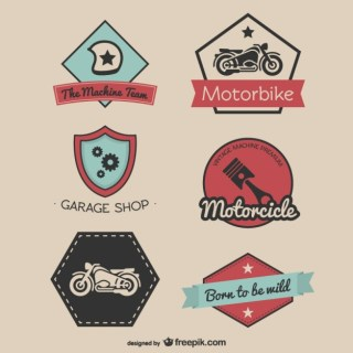 Vintage Racing Stickers Free Vector
