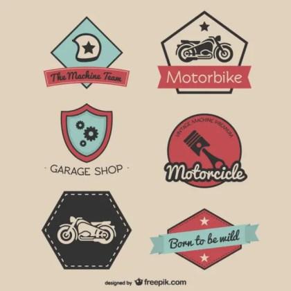 Vintage Racing Stickers Free Vector