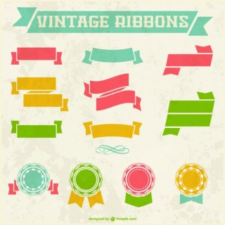 Vintage Ribbons Graphic Free Vector