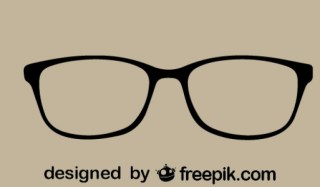 Vintage Style Eyeglasses Design Free Vector