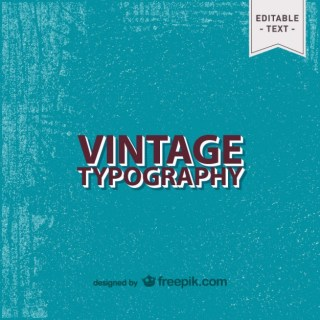 Vintage Text Background Free Vector