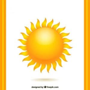 Warm Sun Free Vector