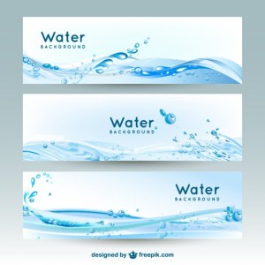 Water Banner Backgrounds Free Vector