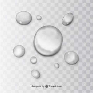 Water Drops Free Vector