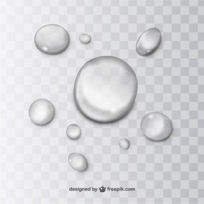 Water Drops Free Vector