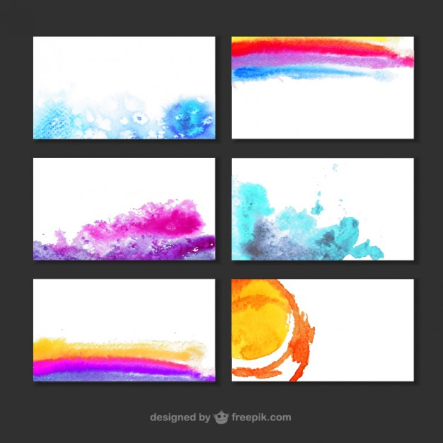 Watercolor Backgrounds Collection Free Vector