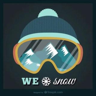 We Love Snow Free Vector