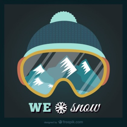 We Love Snow Free Vector
