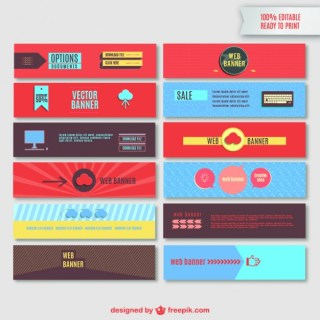 Web Banners Editable Free Vector