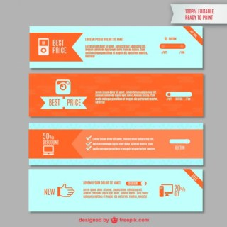 Web Banners Graphics Free Vector