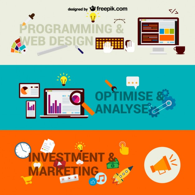 Web Business Steps Free Vector