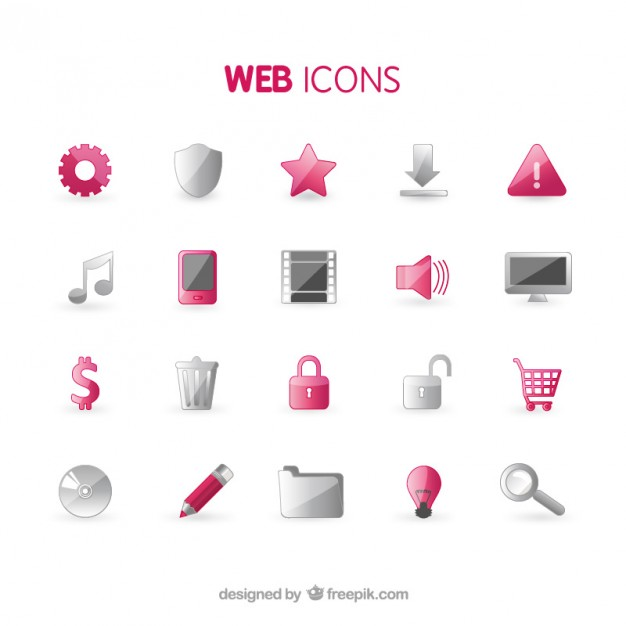 Web Icons Collection Free Vector