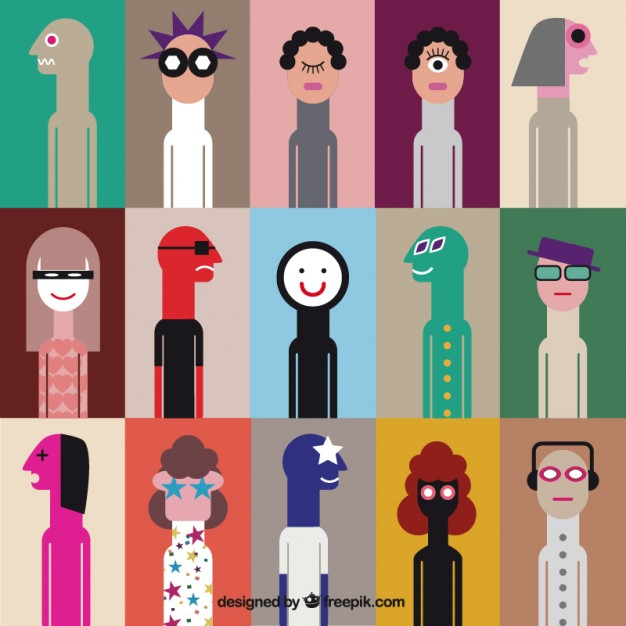 Weird People Free Vector